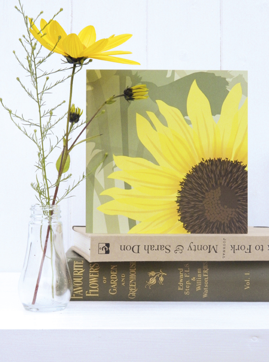 Sunflower Card - birthday, summer, floral