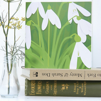 Snowdrops Christmas Card - Spring, birthday, for gardeners