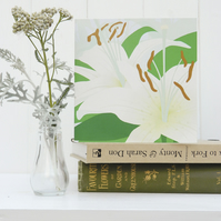 White Lily Card - sympathy, remembrance