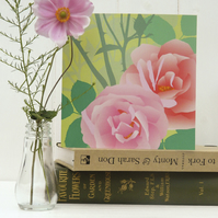 Pink Rose Card - birthday, summer, Mothers Day