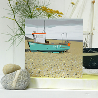 Fishing Boat Card - seaside, birthday, for him