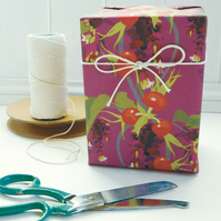 Pheasant Berry Gift Wrapping Paper - single folded sheets