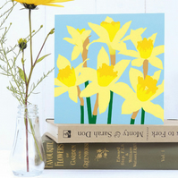 Daffodils card - Spring, Easter, Mother's Day, flower