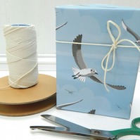Flying Seagulls Gift Wrapping Paper - Single folded sheets