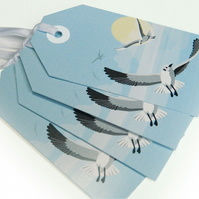 Flying Seagull Gift Tags