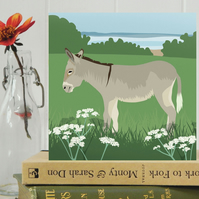 Donkey Card - Farm, animal, birthday