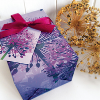 Purple Allium Gift Wrapping Paper Pack