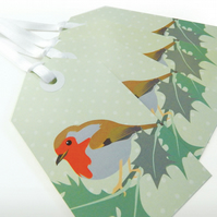 Robin & Holly Christmas Gift Tags