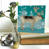 Winter Woodland Reindeer Christmas Card