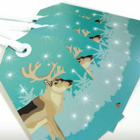 Winter Woodland Reindeer Gift Tags