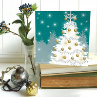 Winter Woodland Tree Christmas Card
