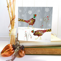 Winter Pheasant Christmas Card