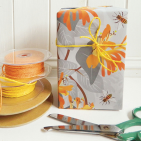Bees with Honeysuckle Gift Wrapping paper