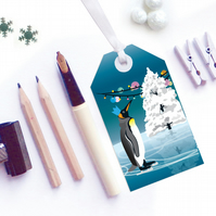 Penguin Christmas Gift Tags - Eco Friendly, Compostable