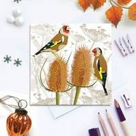 Goldfinch Card - British Bird, Eco Friendly, FSC card, Blank inside