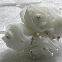 White rose fascinator