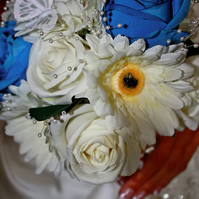 Rose and gerbera bridal bouquet