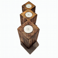 Minimalistic Solid Wood Candle Holder Set - SALE