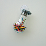 Matchsticks Glass Bulb Decor