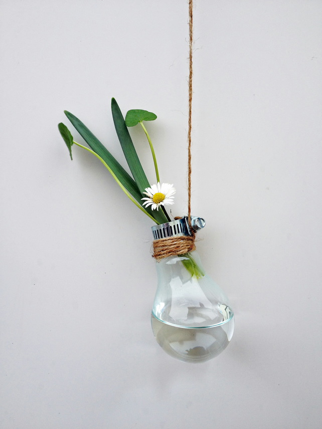 Folksy & Glass Bulb Flower Vase