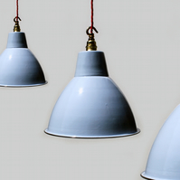 Vintage Industrial Enamel Lampshade Pendant Light
