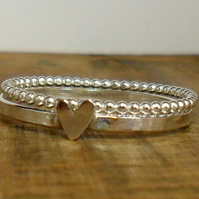 Heart & Bubble Ring