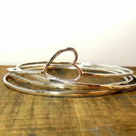Heart Stacking Bangles