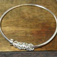 Kinetic Sterling Silver Bangle