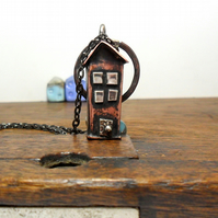 Whimsical Town House Pendant