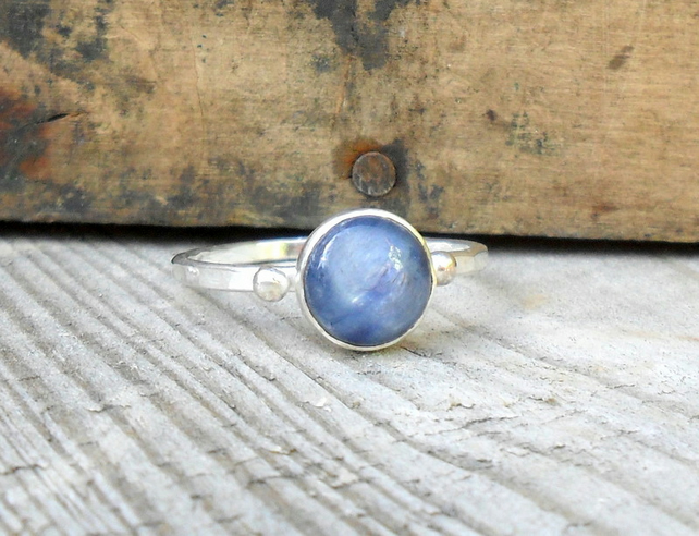 Sterling Silver Kyanite Bobble Ring