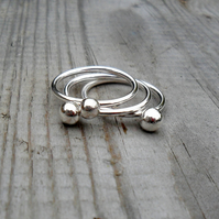 Silver Berry rings