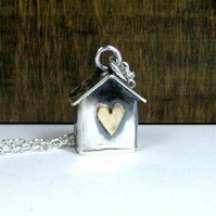 Silver Beach Hut with a Gold Heart