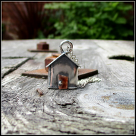 Original Sterling Silver Beach Hut Pendant