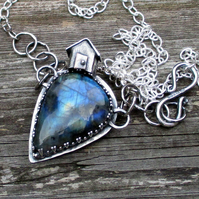 Silver House on the Hill Necklace