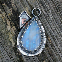 Moonstone Mountain Silver Pendant