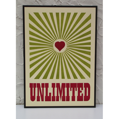 love unlimited letterpress print