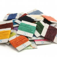 5m of Crawford's 4-ply Waxed Linen Thread, up to 5 colours of your choice