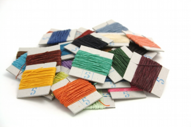 50m of Crawford's Waxed Linen Thread, 10 Colours of your choice