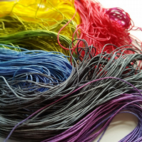 Braided Silk, Silk Cord, Jewelry Making Cord, Varigated, Coloured