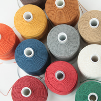 English Linen Thread, 3-ply, Coloured Bookbinding Thread, Leather Sewing