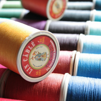 Fil Au Chinois Lin Cable No. 432, Coloured French Linen Thread, Leather Working