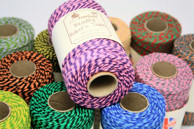 Baker's Twine, Cotton String, Coloured Cotton Thread, Cotton Twine, Two-Coloured