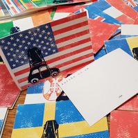 Flag Country Travel Card, Moving To a Different Country, Going abroad