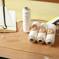 Bookbinding Thread, Professional Non-dyed Linen Thread, Different Sizes