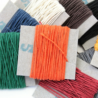 10m English Linen Thread, 3-ply, non-waxed, Coloured Bookbinding thread
