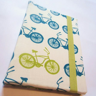 Bicycle print book-style Kindle cover