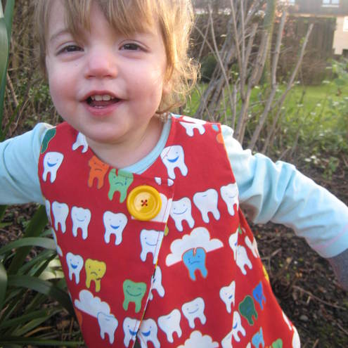 Happy teeth and multi-spots four way reversible swing top, 6-12m,1-2 yr, 2-3yr