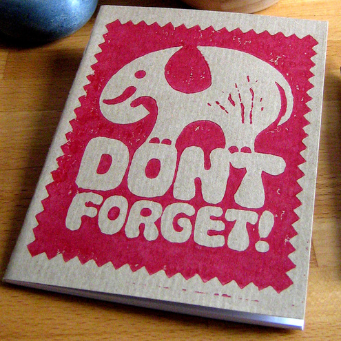 Don't Forget Elephant Notebook