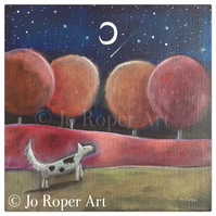 "Shooting Star is a 9"" x 9"" giclee Print by Jo Roper Art"