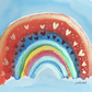 PRECIOUS brightly coloured RAINBOW painting Jo Roper